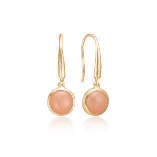 Blicherfuglsang Midnight gold-plated earrings, model 344131G