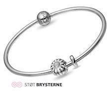Christina Watches silver bangle with silver daisy