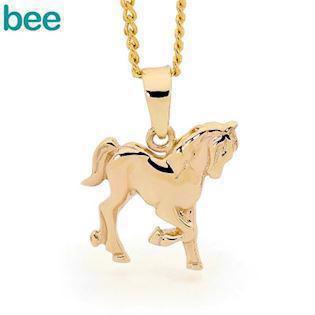 Bee Jewellery Horse pendant in 9 carat gold, model 62935