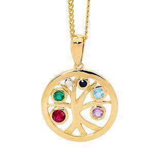 Bee Jewellery Tree of Life 9 carat gold pendant, model 65618-Multi