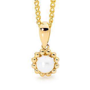 Bee Jewellery Flower pendant in 9 carat gold, model 65661-P