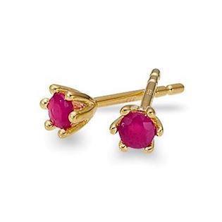 GSD 8 carat gold earrings with red rubies, model 8283-5-08