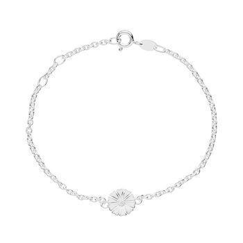 Lund Copenhagen silver bracelet with 9 mm marguerite, model 901009-H