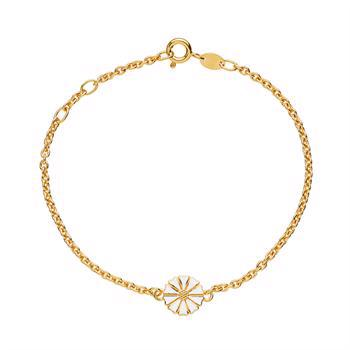 Lund Copenhagen gold-plated silver bracelet with 9 mm marguerite, model 901009-M