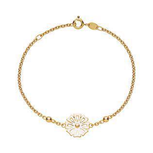 Lund Copenhagen gold-plated marguerite bracelet, model 9015004-M