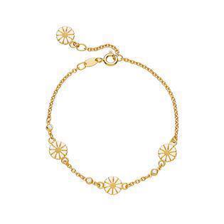 Lund Copenhagen gold-plated bracelet with zirconia, model 9015012-30-M