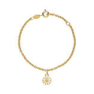 Lund Copenhagen gold-plated marguerite bracelet, model 9015016-M