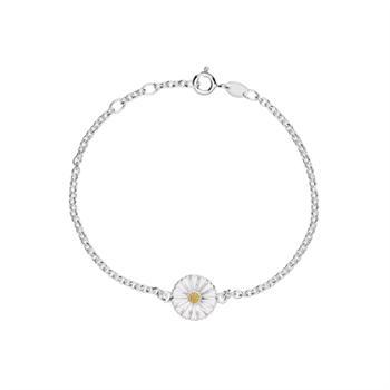 Lund Copenhagen marguerit silver bracelet with a gold-plated detail, model 9015019-HM