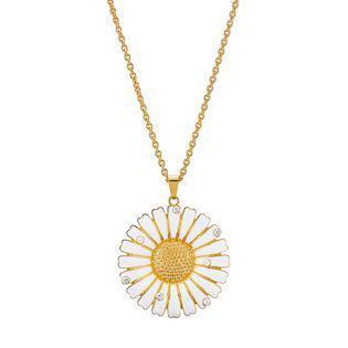 Lund Copenhagen gold-plated necklace with zirconia, model 9025000-30-M