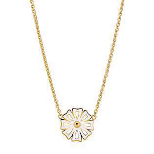 Lund Copenhagen gold-plated necklace with daisy, model 9025005-M