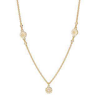 Lund Copenhagen gold-plated necklace with zirconia, model 9025012-30-M