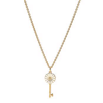 Lund Copenhagen daisy necklace in 24 carat gold-plated silver, model 9025021-M