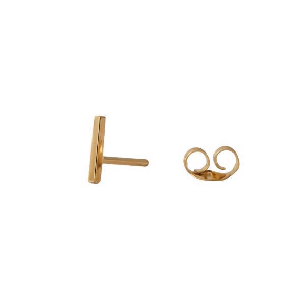 Danish Designed alfabet ear studs by Arne Jacobsen, 7 mm and in goldplated sterling silver - price i pr pcs
