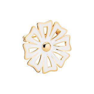 Lund Copenhagen gold-plated daisy brooch (30 mm), model 9045017-M