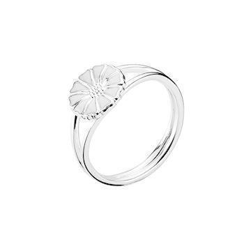 Lund Copenhagen silver ring with marguerite, model 907009-H