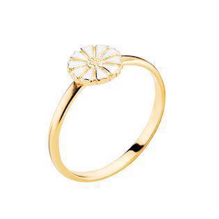 Lund Copenhagen gold-plated 7.5 mm marguerite ring, model 907075-M