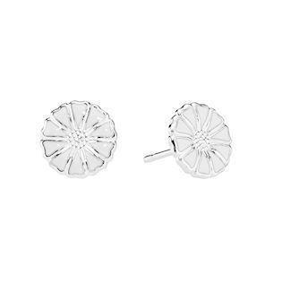 Lund Copenhagen silver earrings with daisies, model 909009-4-H