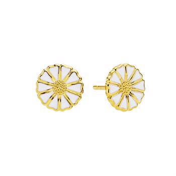 Lund Copenhagen 9 mm gold-plated earrings with daisies, model 909009-4-M