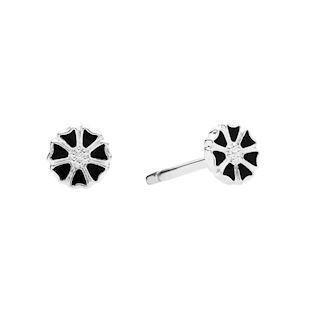 Lund Copenhagen marguerite earrings in sterling silver, model 909050-4-S