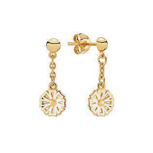 Lund Copenhagen Kontur gold-plated earrings, model 9095006-6-M