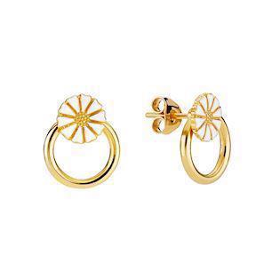 Lund Copenhagen gold-plated and round earrings, model 9095009-4-M