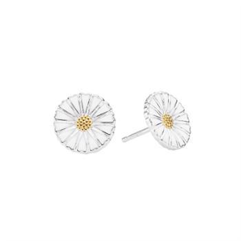 Lund Copenhangen silver earrings with gold-plated center, model 9095019-4-HM