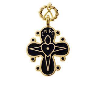 Lund Copenhagen Dagmar Cross NecklacePendant, -20 x 17 mm