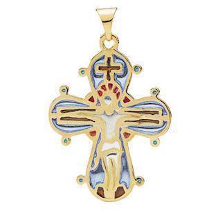 Lund Copenhagen Dagmar Cross NecklacePendant, -24 x 20 mm