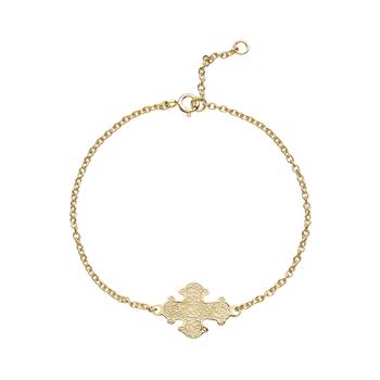 Lund Copenhagen gold-plated bracelet with cross, model 97019-F