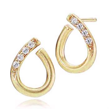 Izabel Camille Darling gold-plated and drop shaped earrings, model A1234G