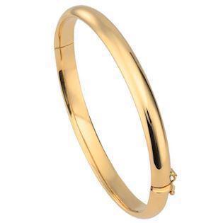 BNH Bracelet, 8 ct gold Ø 5,5 cm og 6,0 mm i with