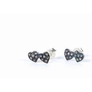 Double mini Heart studs from BeChristensen in silver