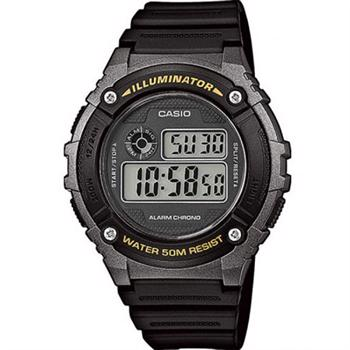 Casio model W-216H-1BVEF buy it at your Watch and Jewelery shop