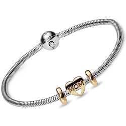 Christina Watches silver bracelet with goldplated silver MOM heart, 16 cm