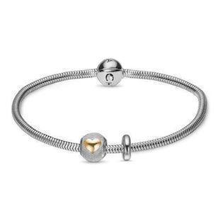Christina Watches silver bracelet with silver Valentine charm,