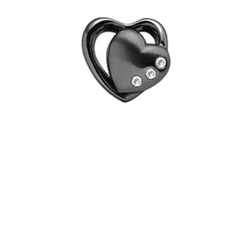 Christina Collect Topaz 2-Hearts black ring