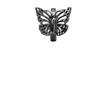 Christina Collect Butterfly black ring