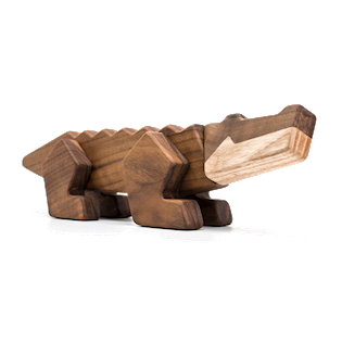 Fablewood Crocodile - Rivers Ruler - wooden figure composed of magnets