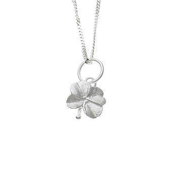 Flora Danica four-leafed pendant in matte sterling silver (10-16 mm), model FI550SM