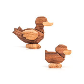 Fablewood The Duck - wooden figure composed of magnets