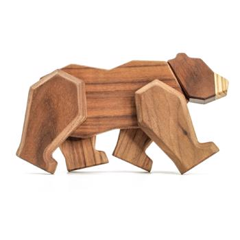 Fablewood Bear - The wise one - wooden figure composed of magnets