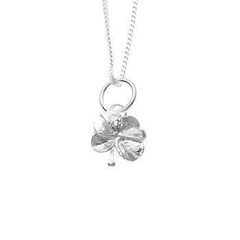 Flora Danica four-leaf silver pendant with 45 cm chain, model FI1950S