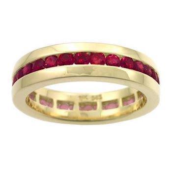 Houmann Alliance ring 14 carat gold, with 32 rubies model E013805x