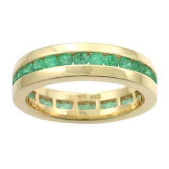 Houmann Alliance ribbon 14 carat gold finger ring with 32 tsavorites, model E013806x