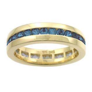 Houmann Alliance ribbon 14 carat gold Finger ring with blue sapphire, model E013807x