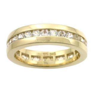Houmann Alliance Ribbon 14 Carat Gold Finger Ring with White Sapphires, Model E013808x