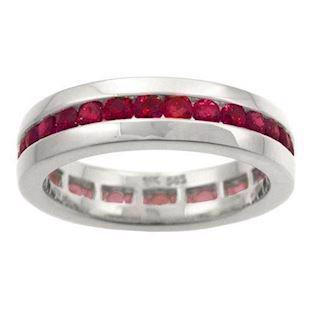 Houmann Alliance 14 white carat gold, with 32 rubies model E013805x