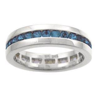 Houmann Alliance Ribbon 14 Carat White Gold Finger Ring with 32 Blue Sapphires, Model E013815x