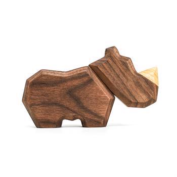Fablewood Little Rhino - wooden figure composed of magnets