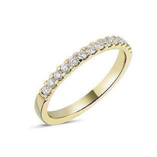 14 carat gold Memories ring from Nuran with 0,26 carat diamonds